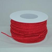 Ozdobny sznurek papierowy z drutem - czerrwony - cze