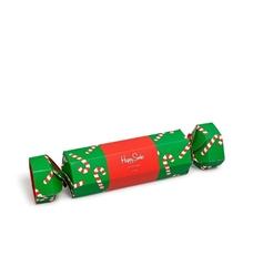 Giftbox świąteczny skarpety happy socks candy cane cracker 2-pak na prezent