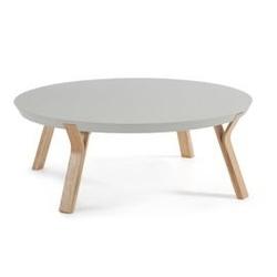 Drewniany stolik solid 90x90 cm szary