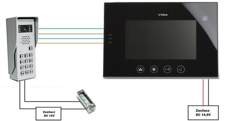 Wideodomofon vidos m670b  s50d - możliwość montażu - zadzwoń: 34 333 57 04 - 37 sklepów w całej polsce