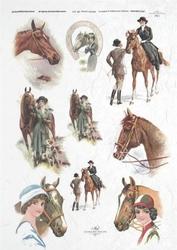 Papier ryżowy ITD A4 R227 konie