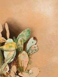 Kaktusy - plakat Wymiar do wyboru: 42x59,4 cm