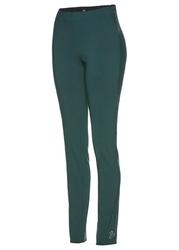 Spodnie z bengaliny ze sztrasami bonprix niebieskozielony