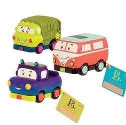 B.toys auka miękkie ze śmieciarką - mini-zestaw 3 sztuk