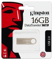 Kingston data traveler se9 16gb usb2.0 silver metal