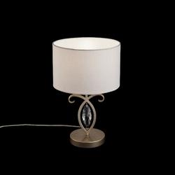 Lampka stołowa z dekoracyjnym kryształem, antyczne złoto luxe maytoni h006tl-01g