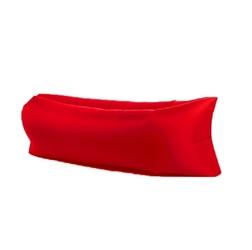 Lazy bag xxl czerwony air sofa materac leżak na powietrze