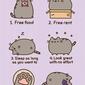 Pusheen reasons to be a cat - plakat