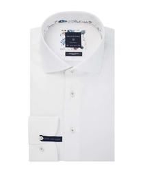 Męska koszula biała twill extra długa 37
