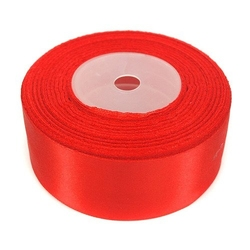 Wstążka satynowa 38mm32m - czerwona - czerwony