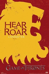 Game of Thrones - Lannister Here Me Roar - plakat