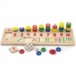 Drewniane liczydło talesa kreatywna liczarka abakus viga toys