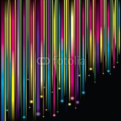 Obraz na płótnie canvas czteroczęściowy tetraptyk magia spadające gwiazdy tło