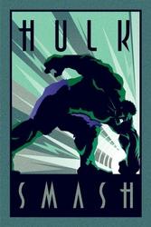 Marvel deco hulk uderzenie - plakat