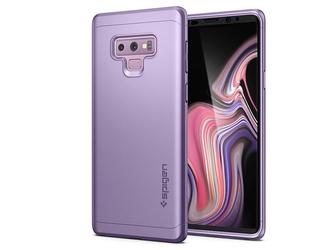 Etui spigen thin fit 360 +szkło samsung galaxy note 9 lavender - fioletowy