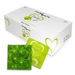 Sexshop - jabłkowe prezerwatywy moreamore condom tasty skin apple 50 sztuk - online