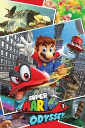 Super Mario Odyssey Collage - plakat