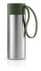 Kubek termiczny To Go Cup z uchwytem leśna zieleń