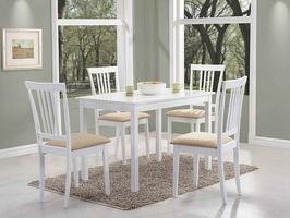Krzesło do kuchni lub jadalni gerta, drewniane, białe