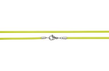 Naszyjnik silikonowy 2613-4 żółty