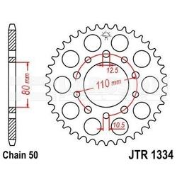 Zębatka tylna stalowa jt 1334-40, 40z, rozmiar 530 2300741 triumph trophy 900, trident 900