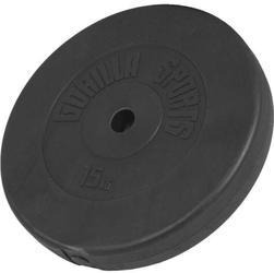 15 kg obciążenie winylowe na sztangę talerz 30 mm gorilla sports