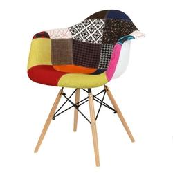Nowoczesny fotel kr012f patchwork 3 buk