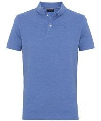 Męska koszulka polo profuomo w niebieski melanż m
