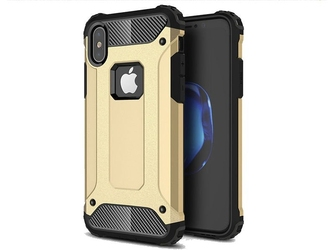 Etui alogy hard armor apple iphone xxs złote - złoty