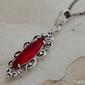 Sanvera - srebrny wisiorek z rubinami