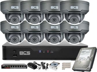 Bcs kamera z wdr 120db monitoring zestaw 8x bcs-p-215rwsa-g 5mpx