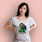 Never stop jak to daleko t-shirt damski biały xxl