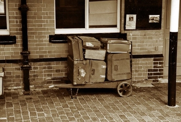 Fototapeta stare bagaże fp 2244