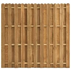Vidaxl panel ogrodzeniowy naprzemienny, drewno sosnowe, 180x170 cm