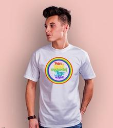 Patrz na tęczę t-shirt męski biały m