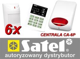 Alarm satel ca-6 led, 6xaqua plus, syg. zew. spl-5010 - możliwość montażu - zadzwoń: 34 333 57 04 - 37 sklepów w całej polsce