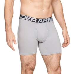 Bokserki męskie under armour charged cotton 6in 3 pack - szary