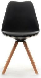 Obrotowe krzesło skandynawskie gustaf czarne