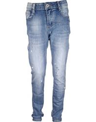 Spodnie jeans - perłeki