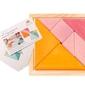 Tangram z oryginalną książeczką 3+, pomarańczowo-różowy, grimms - pomarańczowo-różowy