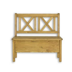 Ławka z oparciem 120 cm cevilo drewniana