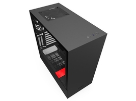 Nzxt obudowa h510i z oknem, czarno-czerwona