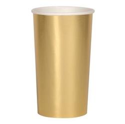 Meri meri - wysokie kubeczki złote