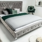 Łóżko tapicerowane henry 180x200 jasnoszare
