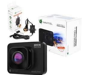 Wideorejestrator kamera navitel ar200 pro 2 fhd+smartbox