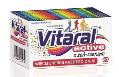 Vitaral active z żeń-szeniem x 60 tabletek