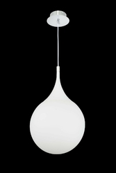 Lampa wisząca kropla, białe szkło dewdrop maytoni modern p225-pl-300-n