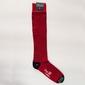 Skarpety podkolanówki czerwone w granatowe paski l 43-44