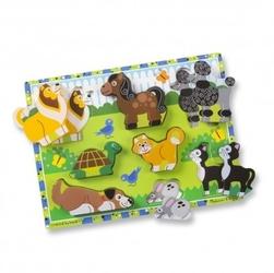 Duże puzzle 3d drewniana układanka – domowe zwierzęta