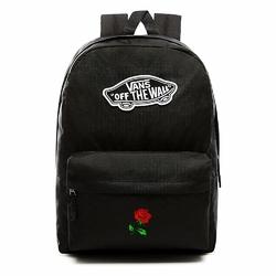 Plecak szkolny VANS Realm Backpack Custom Red Rose róża - VN0A3UI6BLK